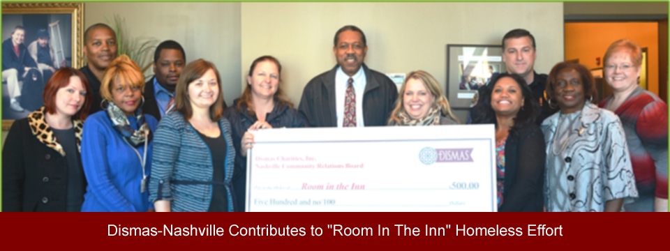 "Dismas-Nashville Contributes to ""Room In The Inn"" Homeless Effort"