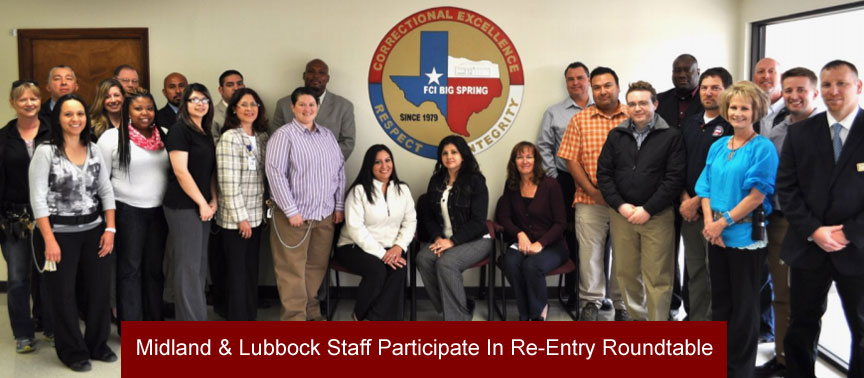Dismas Charities Facility Staff From Midland and Lubbock participate in Re-Entry Roundtable