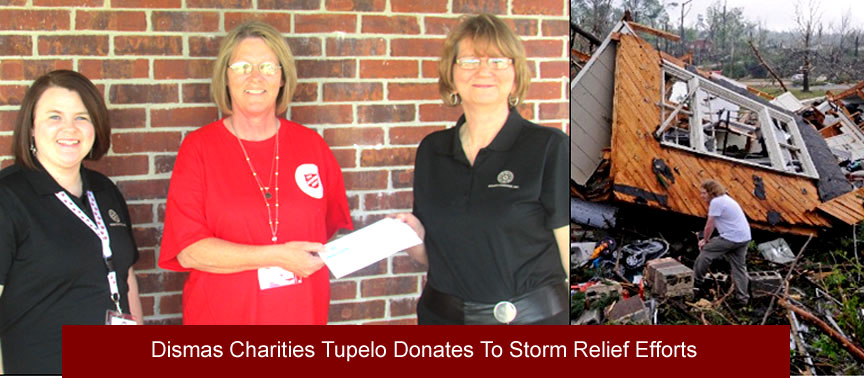Dismas Charities Tupelo Donates To Storm Relief Efforts
