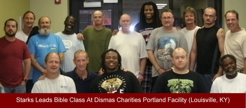 Starks Leads Bible Class At Dismas Charities Portland (Louisville, KY)