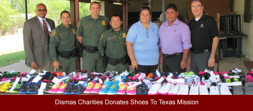 Dismas Charities Laredo Again Donates Shoes To Mission