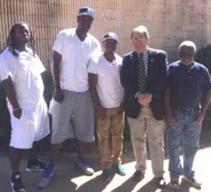 Macon Mayor Visits, Thanks Dismas Charities Residents
