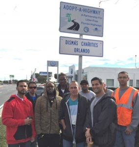 Dismas Charities Orlando Cleans Adopted Highway