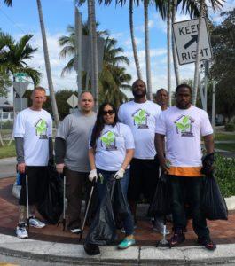 Dismas Charities Dania Beach Participates In Oasis Clean-Up