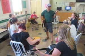 Diersen Louisville Clients Receive Guitar Lessons