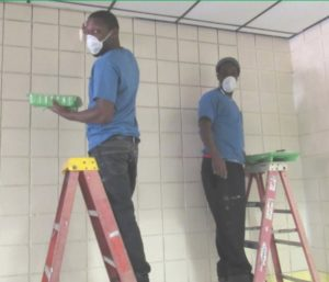 Dismas Charities Montgomery Alabama Residents Volunteer To Paint At Brewbaker Middle School